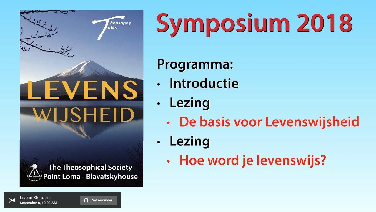 Volg het symposium Levenswijsheid live online
